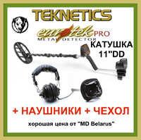 """Металлоискатель Teknetics Eurotek PRO 11"""" DD + наушники + чехол"""